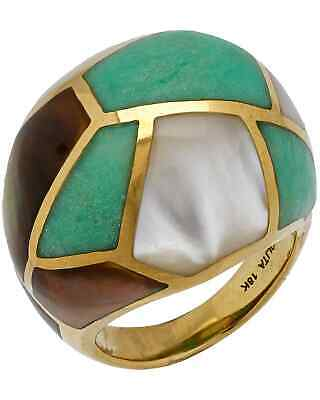 Ippolita Polished Rock Candy 18k Yellow Gold MoP & Agate Ring GR341PISA