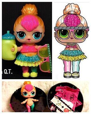 Lol Sorpresa Neón QT Cutie Glamour Purpurina Serie Muñeca Bola Grande Sister