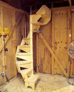 SPIRAL STAIRCASE PLANS, Modular Design, Easy To Build US Patent #D398063