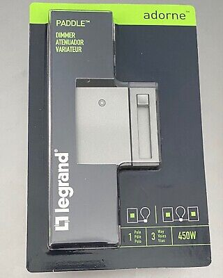 Legrand Adorne Cflled 3 Way Paddle Dimmer Switch 450 W Magnesium- Lot Of 5