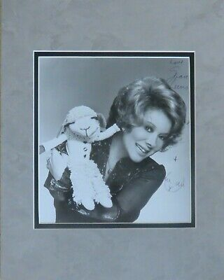 Ventriloquist Shari Lewis w/ Lamb Chop Autographed Matted Photo