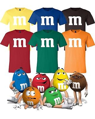 M & M Halloween Costume Group Costumes Candy T Shirts Bella Canvas Soft tee  (Halloween M&m Costume)