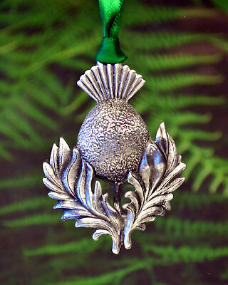 Scottish Thistle Christmas Ornament   Scottish Holiday   Thistle Christmas Decor
