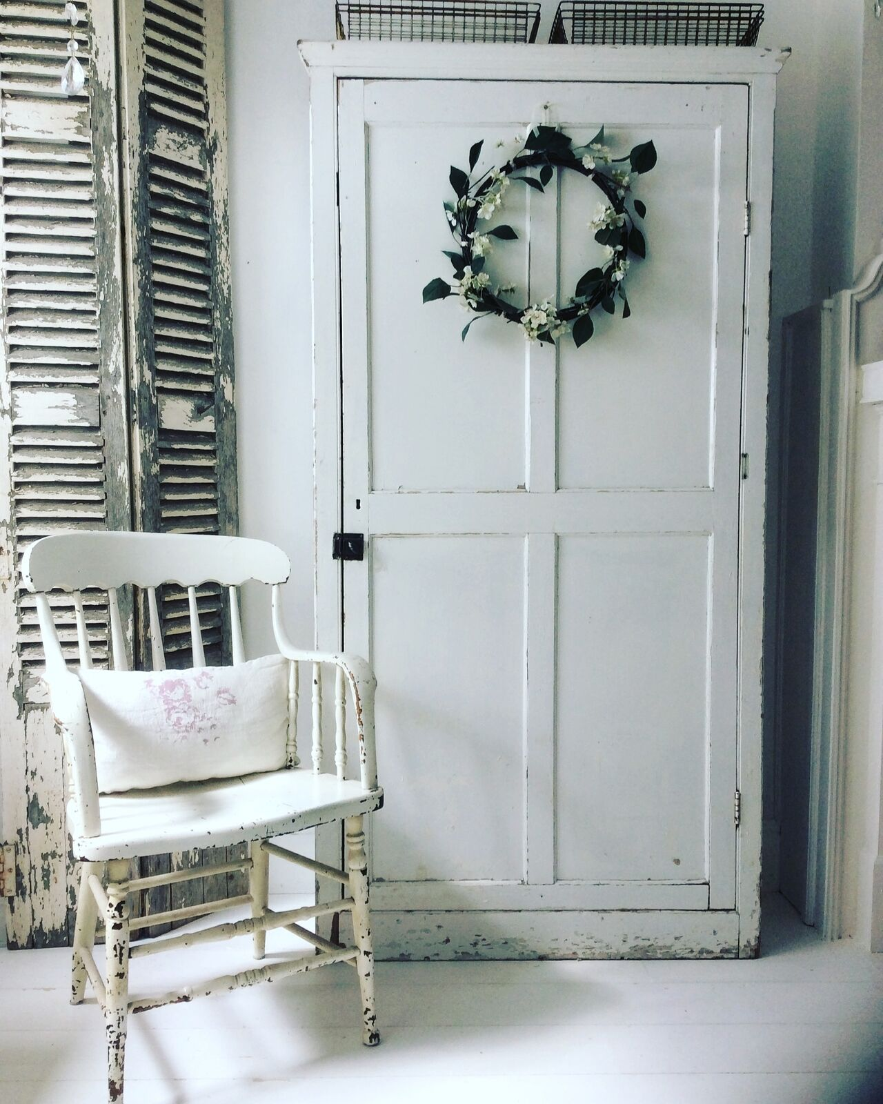 Weathered & White Vintage Home