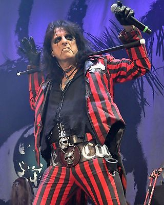 ALICE COOPER HARD ROCK MUSIC STAR CONCERT 8X10 GLOSSY PHOTO - HIGH QUALITY!