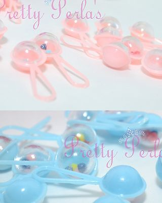 50 Mini Rattles Baby Shower Table Favors Decoration BLUE - PINK Party Boy - Girl