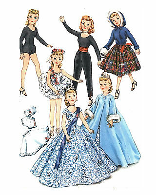 71 Fashion Doll Outfits to Sew Vintage LOT Pattern Repro11 Patterns on CD,10-23""