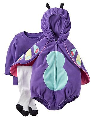 Carter's NWT 6-9 9M 18M Microfleece Butterfly Costume Infant Baby Girl