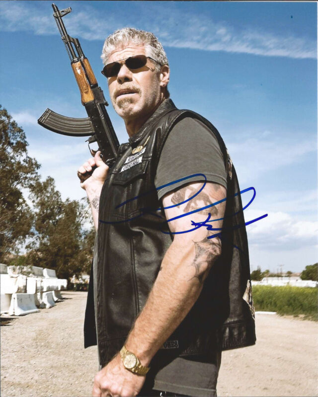 SONS OF ANARCHY RON PERLMAN SIGNED AUTHENTIC 8X10 PHOTO B W/COA CLAY MORROW