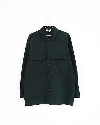 HOF115: COS Jacke hemd baumwolle cargo / Oversized cotton twill jacket green M Green Cotton Jacke