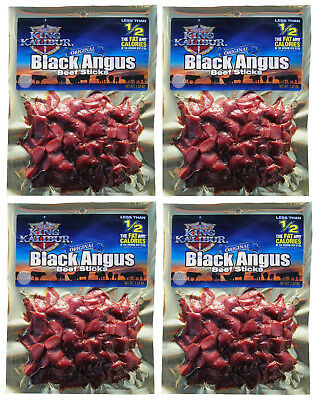ORIGINAL Angus Beef Jerky Nuggets Cheap Great Buy 4 - 7.52 oz. packages 1.8 LBS.