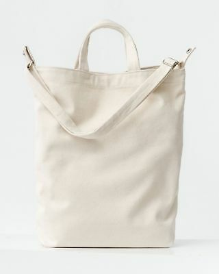 Used, NEW BAGGU Duck Bag Canvas Shopper Tote w/ Strap & Pocket Natural Canvas for sale  Honolulu