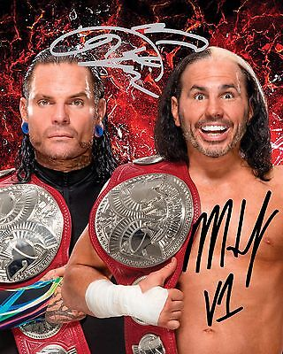 HARDY BOYZ #1 (WWE) - 10x8 PRE PRINTED LAB QUALITY PHOTO (SIGNED) (REPRINT)