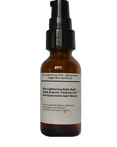 Skin-Lightening-Anti-Aging-Serum-w-Kojic-Acid-Arbutin-Vit-C-Hyaluronic-acid