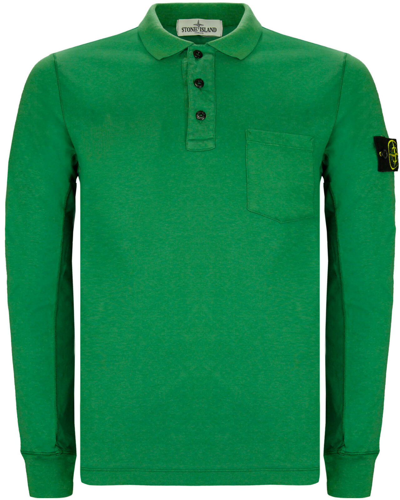 stone island men 39 s long sleeve pocket polo shirt ebay