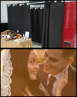 Wedding photography + photobooth package