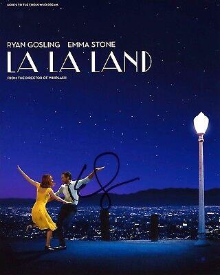 Actress Emma Stone Signed La La Land Movie 8X10 Poster Photo W Coa Battle Sexes