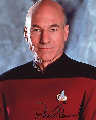 Patrick Stewart - Captain Jean-Luc Picard - Star Trek - Signed Autograph REPRINT