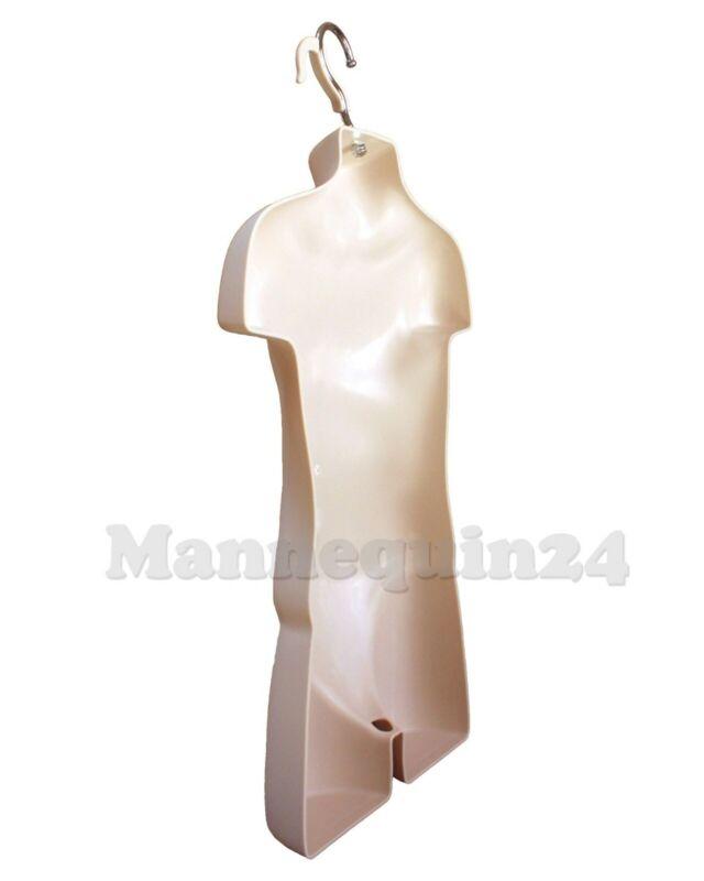 Kids Sizes 10-12 White Plastic Hanging  Dress Form Mannequin Teen Girl