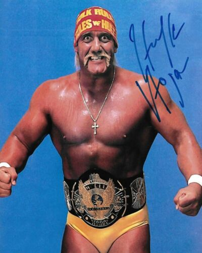 Hulk Hogan WWE WWF Autographed Signed 8x10 Photo Man Cave DECOR BAR SHOP