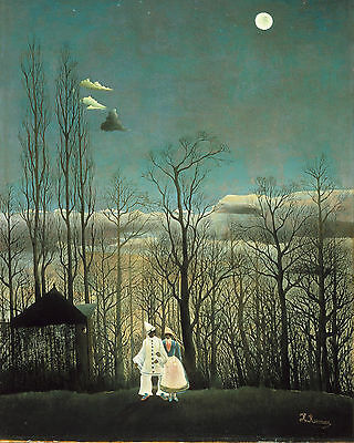 Henri Rousseau Carnival Evening Forest Painting 8x10 Real Art Canvas (Henri Rousseau Canvas Painting)