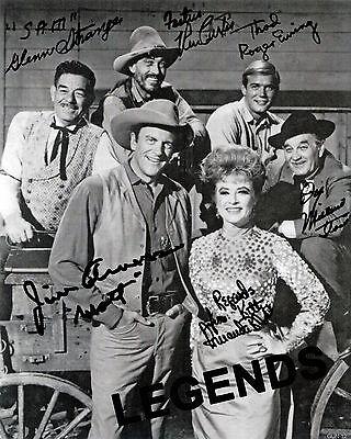 GUNSMOKE AUTOGRAPHED  Cast Members   8 x 10 Photo Reprint  Early 1960