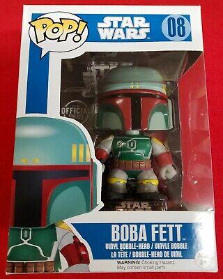 Funko Pop! Star Wars - Boba Fett 08 - Vinyl Bobble Head - Series 2 - Blue Box