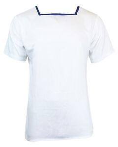 British-Navy-Mens-WHITE-SAILOR-TOP-All-Sizes-Original-Naval-Class-II-Shirt