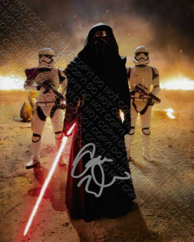 REPRINT 8x10 SIGNED AUTOGRAPHED PHOTO PICTURE RP- ADAM DRIVER KYLO REN STAR WARS