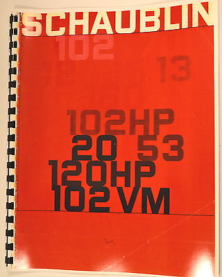 Schaublin 10213102hp2053120hp102vm Lathe Milling Machine Sales Brochure