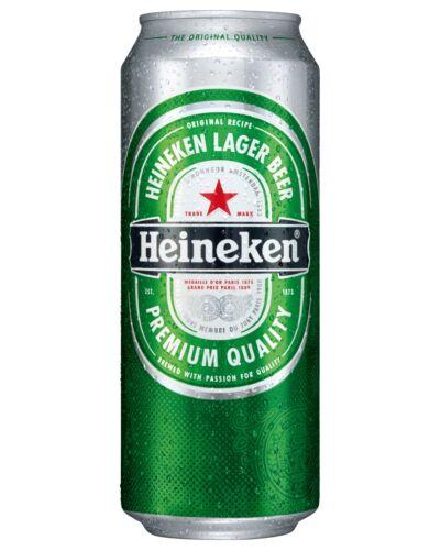 HEINEKEN Cans 500mL - Fully Imported International Beer Lager