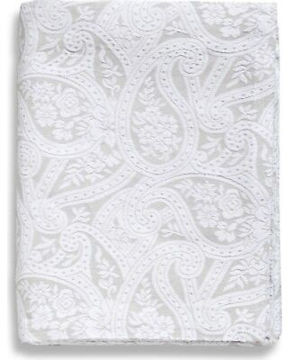 Belle Epoque Kashmir Paisley Coverlet, Grey/White, Queen