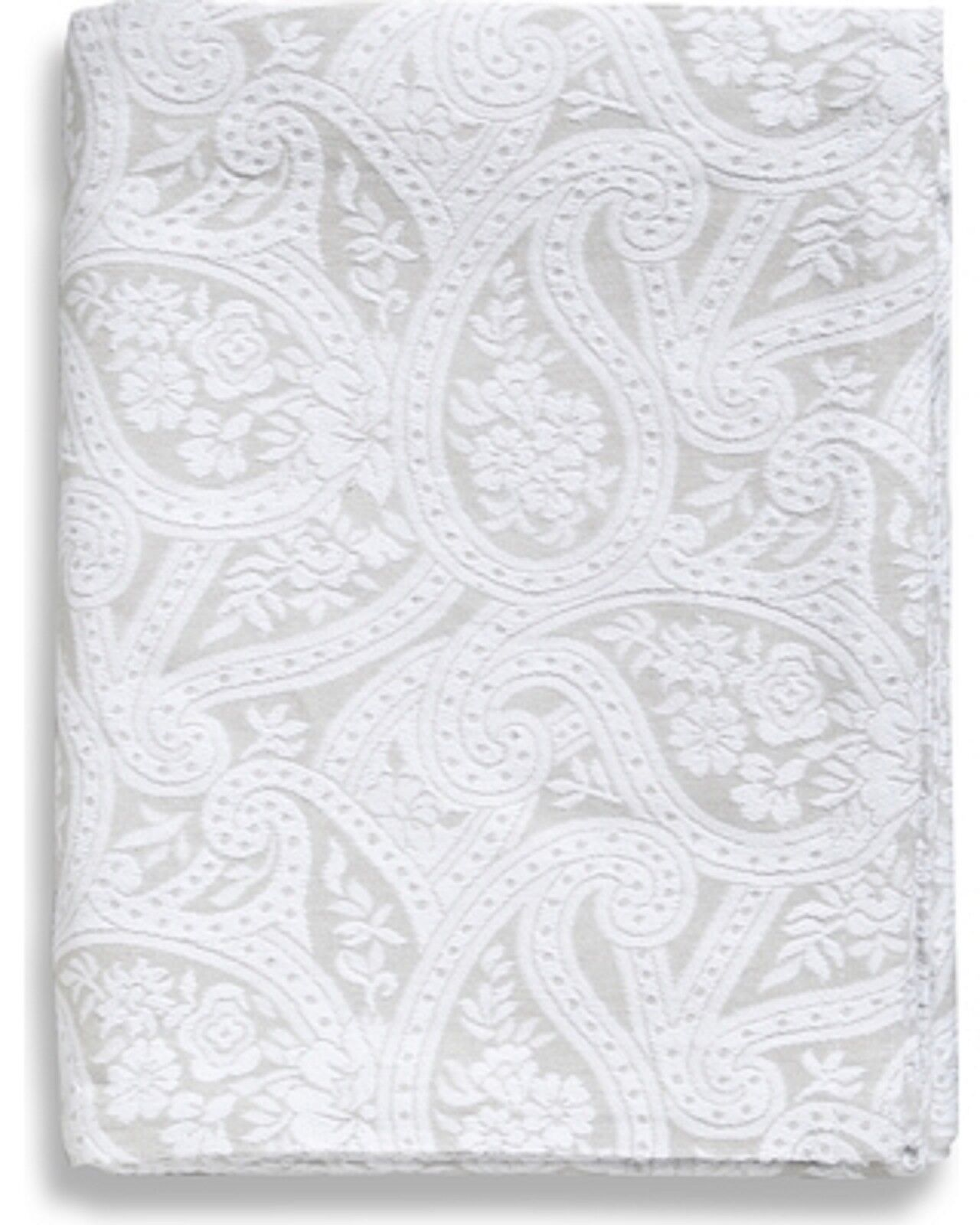 kashmir paisley coverlet grey white queen