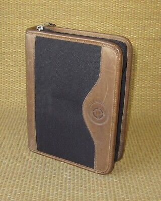 Compact Franklin Covey Greenline Brown Leather 1.25 Rings Zip Plannerbinder