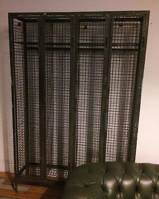 Vintage Industrial Locker Large Wire Mesh