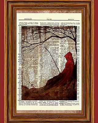 Edgar Allan Poe Dictionary Art Print Picture Book Page Masque of the Red Death