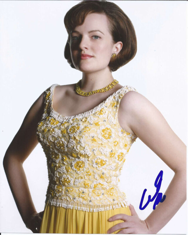 SEXY ELISABETH MOSS HAND SIGNED AUTHENTIC MAD MEN 'PEGGY' 8X10 PHOTO w/COA
