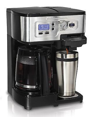 Hamilton Strand 2-Way FlexBrew 1-12 Cup K-Cup Ready Coffee Maker Brewer 49983