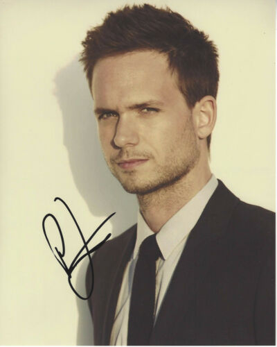 PATRICK J. ADAMS SIGNED AUTHENTIC SUITS 'MIKE' 8x10 PHOTO B w/COA PROOF TV ACTOR