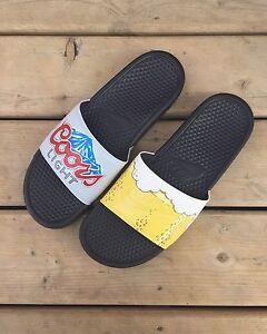 Custom painted Nike Benassi sandals
