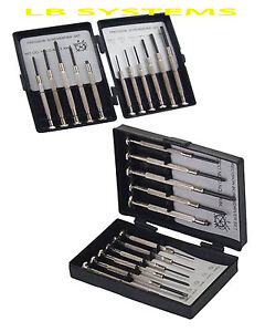 11 piece screwdriver set small screw jewellers glasses laptop pc watch repair. Black Bedroom Furniture Sets. Home Design Ideas