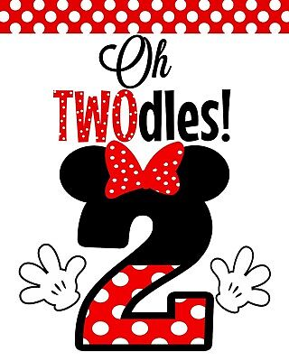 Oh Twodles Birthday (Disney Minnie Mouse