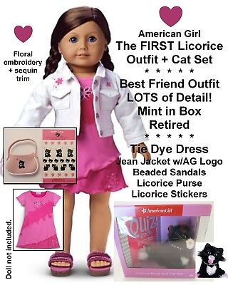 American Girl_LICORICE BEST FRIEND OUTFIT + Accessories_CAT LOT_Retired_NEW BOX - Best Cat Outfits