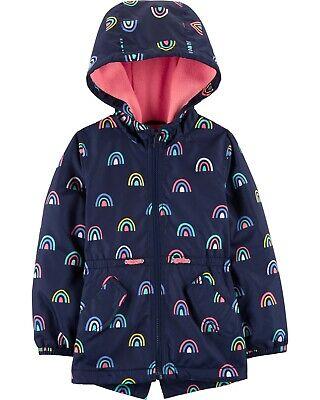 Fleece Girls Jacket (Carter's Girls Navy Rainbow Fleece Lined Jacket Size 2T 3T 4T 4 5/6)