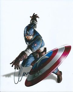 Chris Evans Captain America Avengers Signed Authentic Autographed 8x10 Photo COA