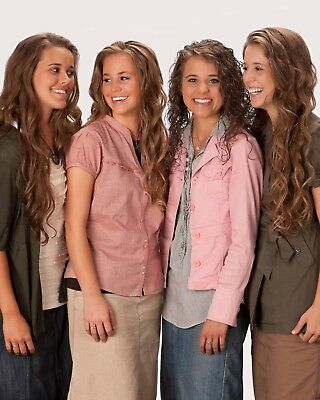 Duggar Girls   Jessa  Jana  Jinger  Jill  8 X 10   8X10 Glossy Photo Picture
