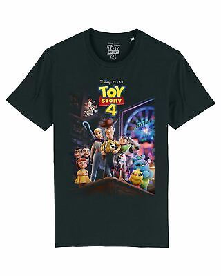 Disney Toy Story 4 Classic Movie Poster Men's Black T-Shirt