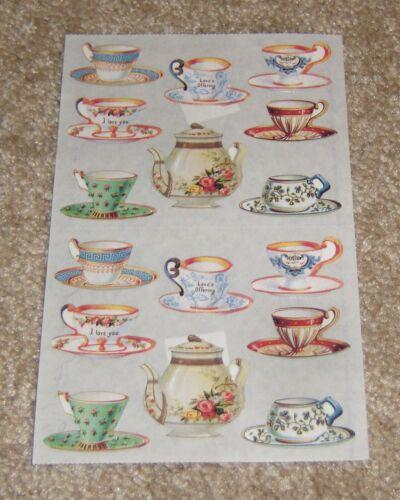 The Gifted Line ~ John Grossman Sticker Sheet ~ TeaCups/Tea Pot (1994)