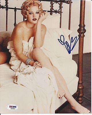 DREW BARRYMORE Signed 8 x10 PHOTO w/ PSA/DNA COA
