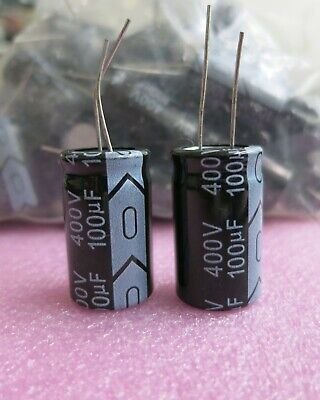 Lot Of TWO NOS Sprague 39D 60UF 350VDC 105C Axial Electrolytic Capacitors CV